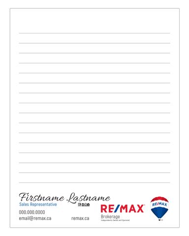"Remax Note Pads - 4.25"" x 5.5"" - Quarter Page 3"