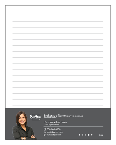 "Sutton Notepads - 4.25"" x 5.5"" - Quarter Page 2"
