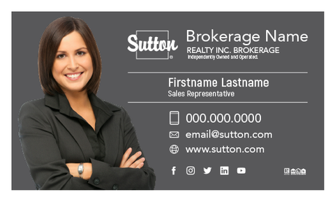 Sutton Business Card Template - STN-005