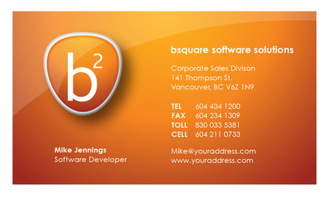 Business Card Template - HDS-10