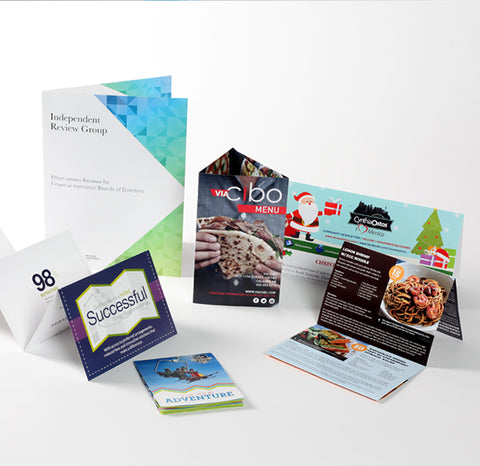 Flyers folded brochure business card combo special reheart Gallery