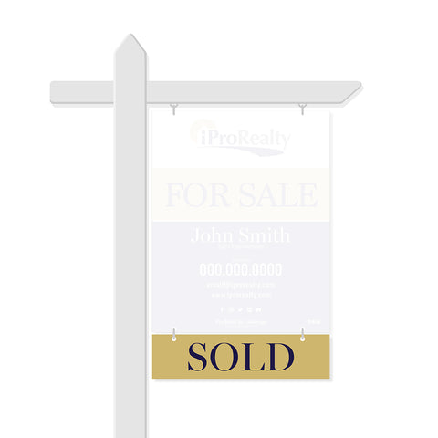 iPro Realty Rider Signs - Sold