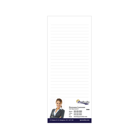 "iPro Notepads - 3.5"" x 8.5"" - Slim 3"