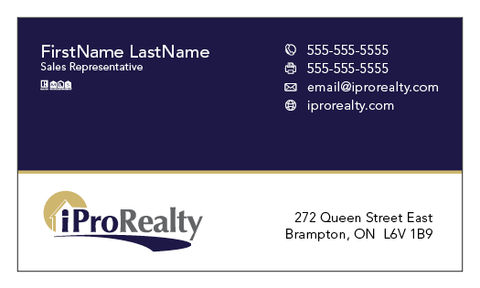 iPro Realty Business Cards - 006