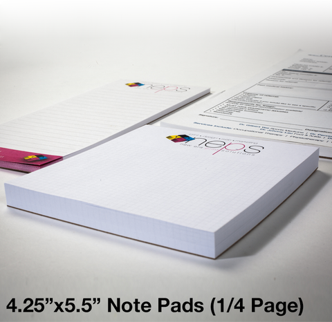 "4.25"" x 5.5"" - Quarter Page Note Pads"