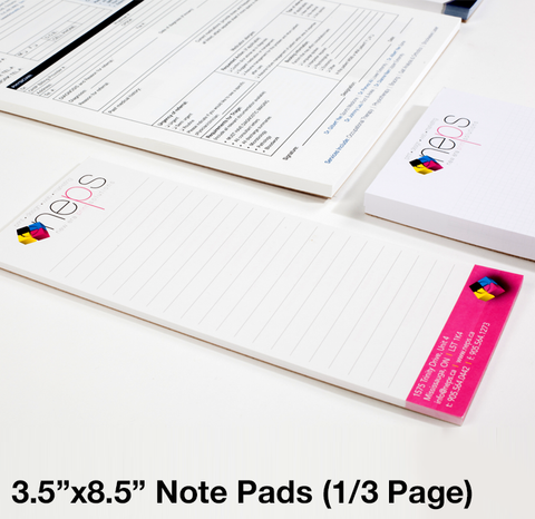 "3.5"" x 8.5"" - Slim Note Pads - New Era Print Solutions"
