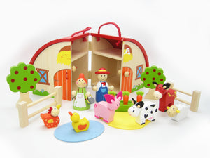 Wooden Farm PLayset in Carry Case $45.jpg