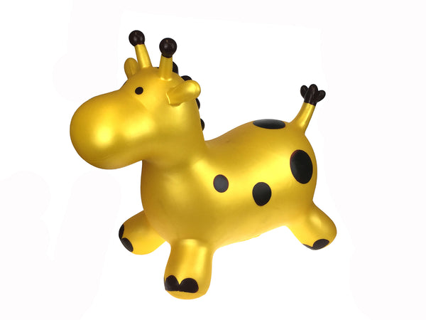 Golden Giraffe Bouncy Animal