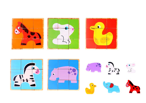 Animal Block Puzzle with Mini Animals