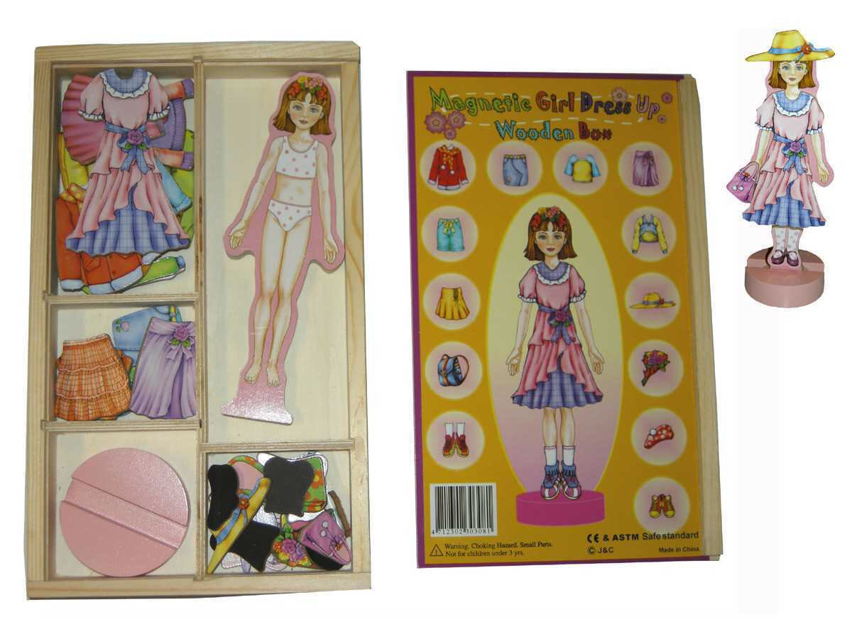Retro Magnetic Dress Up Doll