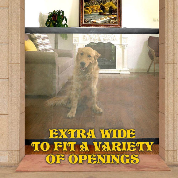 Pet Dog Mesh Gate easy Safe Guard and Install Safety Enclosure Barrier Fences between door openings