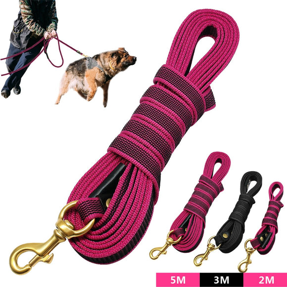 Long Dog Walking Leash Non-Slip Nylon Training Leads 2m 3m 5m For Medium Large Dogs Heavy Duty