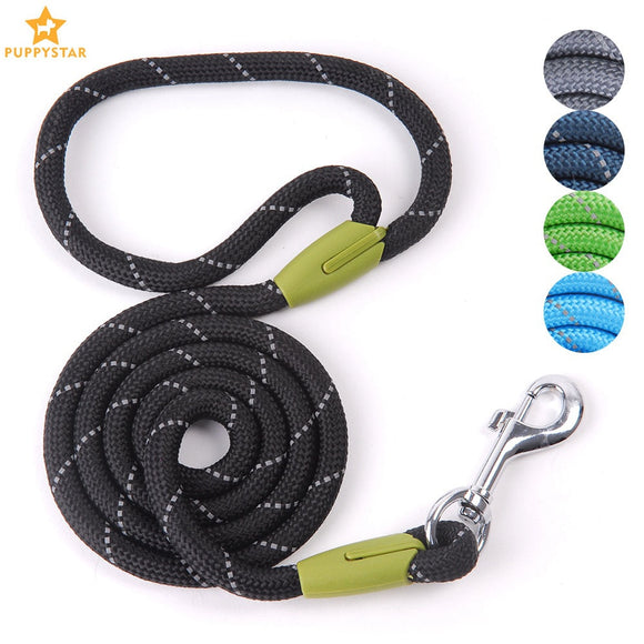 Pet Dog Leash For Small to Large Dogs Reflective Leashes Rope Lead Dog-Collar Harness Nylon Running Leashes