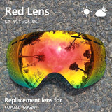 COPOZZ GOG-201 lens Ski Goggles Lens Anti-fog UV400 Big Spherical Snow Lenses Replacement (Lens Only)