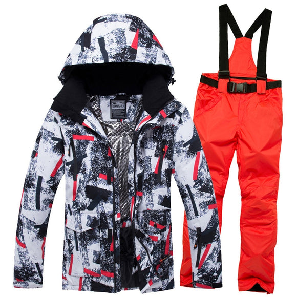 Winter Ski Suit Men Snow Male Clothes Set Outdoor Thermal Waterproof Windproof Snowboard Jackets and Pants