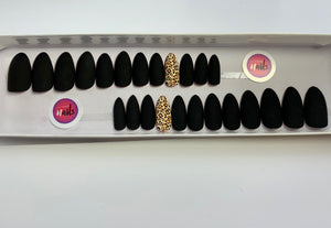 Black Cat Black leopard accent Set