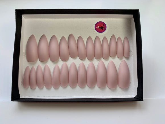 Matte Stilleto Dusty Pink