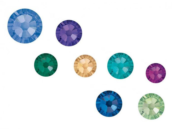 Swarovski SS5 (1.8mm) No Hot Fix Crystals - Pack of 100 Peacock Mix
