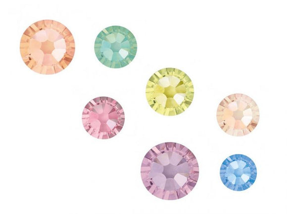Swarovski SS7 (2.2mm) No Hot Fix Crystals - Pack of 100 Sherbet Mix