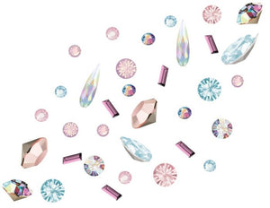 Preciosa 3D nail art mix pack of 100 - Alice's Big Adventure including Swarovski Raindrops