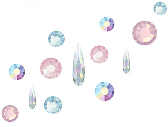 Preciosa Nail Art Mix pack 100 - Alice including Swarovski Raindrops