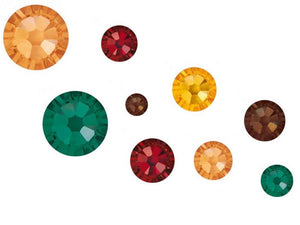 Swarovski No Hot Fix Crystals Mixed Sizes - Pack of 200 Autumn Mix