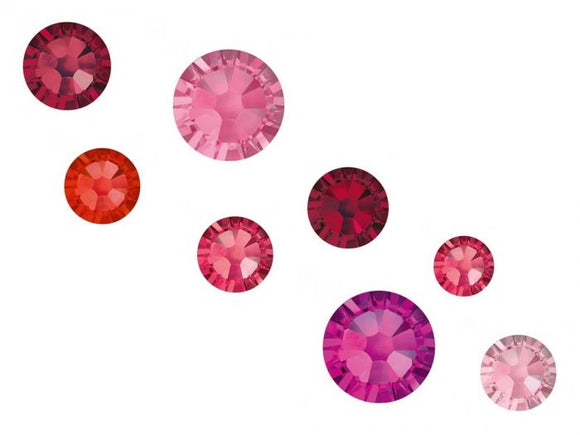 Swarovski Crystals mixed sizes pack of 100 - Blush Mix