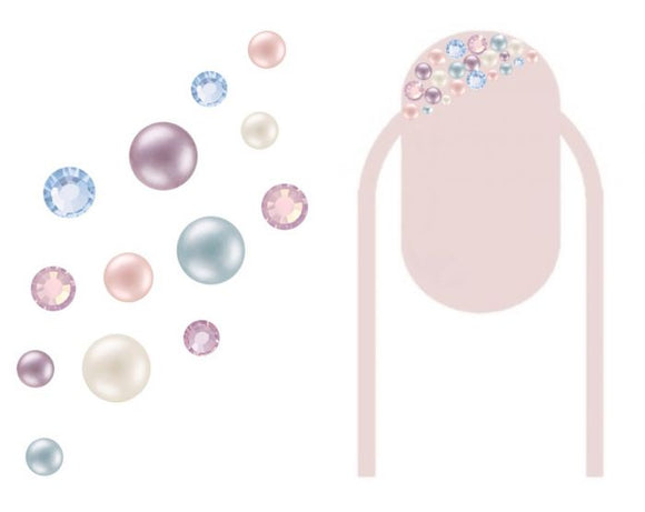 Preciosa Crystal & Pearl mix pack of 200 - Pastel Dream