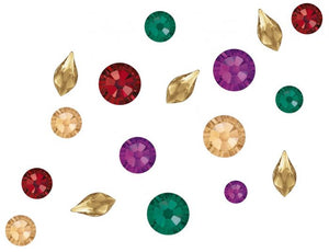 Swarovski Mixed sizes pack of 100 - Fallen Leaves inc flame shape