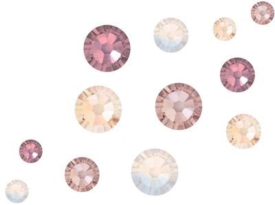 Preciosa No Hot Fix Crystals Mixed Sizes - Pack of 200 - Nudes Collection