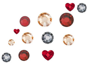 Preciosa nail art mix - pack of 100 - Queen of Hearts Including Swarovski Hearts