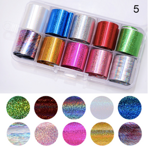 Nail Art x 10 mixed colour set 2