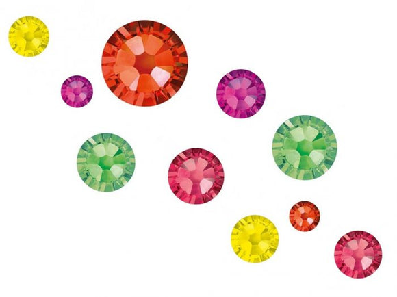 Swarovski Crystals mixed sizes pack of 100 - Tutti Fruity Mix