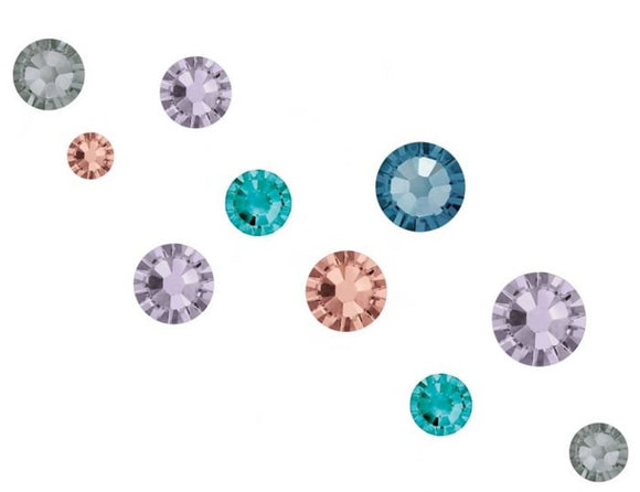 Swarovski SS5 (1.8mm) No Hot Fix Crystals - Pack of 100 Winter Garden Mix