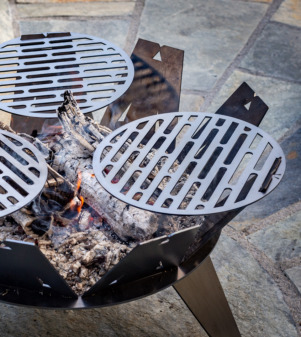 CRUCIBLE - Corten steel Fire Pit and BBQ