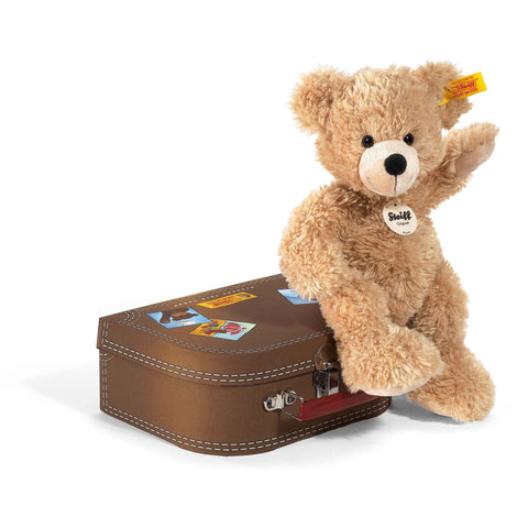 Steiff Flynn Teddy Bear in Suitcase, 28 cm ONLY 1 LEFT