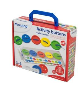 Miniland Aptitude Activity Buttons, 57 pcs