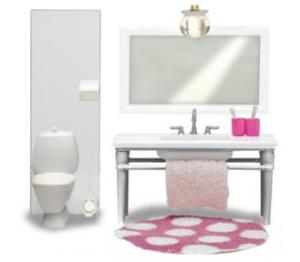 Lundby Smaland 2015 Bathroom Basin & Toilet Set (lights up)