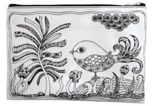 ColourAway - Colouring-in Pencil Case & Fabric Pen Set, Bird