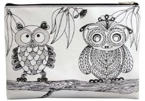 Scribbla - Colouring-in Pencil Case & Fabric Pen Set, Owls