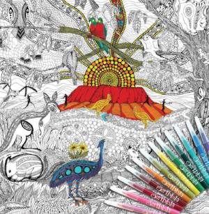 ColourAway Land Downunder Colouring In Poster Kit