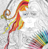 ColourAway Magician's Daughter Colouring In Poster Kit