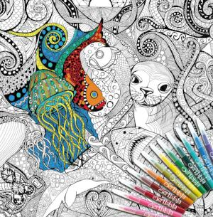 ColourAway Oceans Dreaming Colouring In Poster Kit
