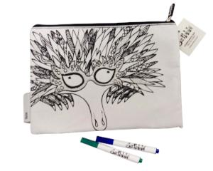 ColourAway - Colouring-in Pencil Case & Fabric Pen Set, Echidna