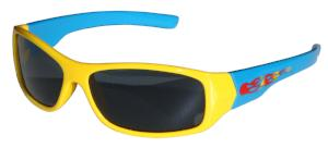 Kiddus Sunglasses - Sporty UV400 - Fire Yellow and Blue