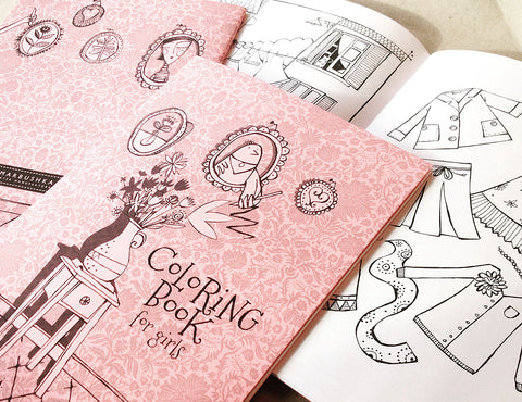 Marbushka Colouring book for girls