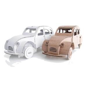 Leolandia Tin Snail Car, Natural and White 26.5 cm