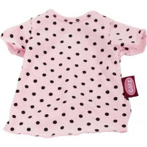 Götz Wardrobe - 42 cm - Pink T-Shirt with Black Dots