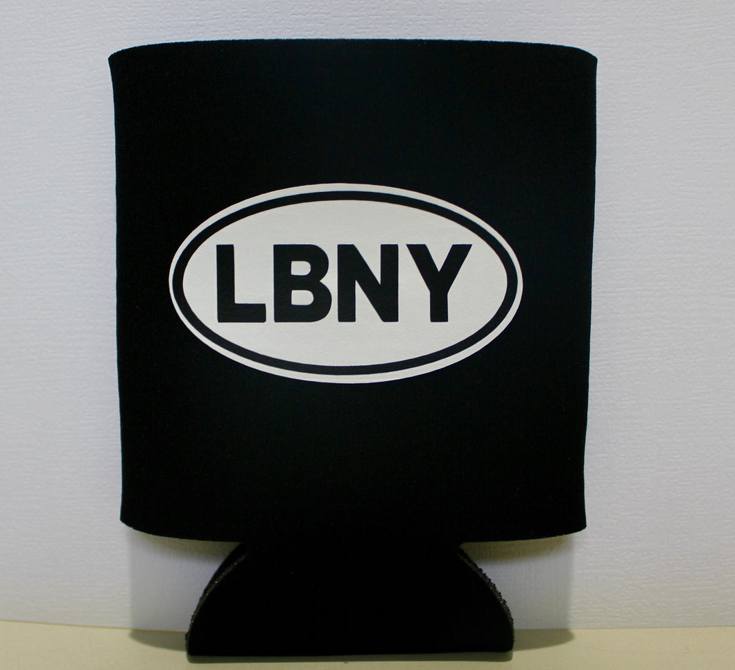 Black LBNY Sticker Can Cooler