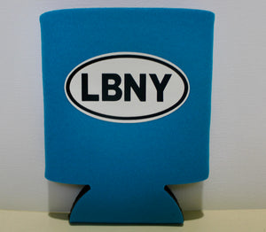 Blue LBNY Sticker Koozie